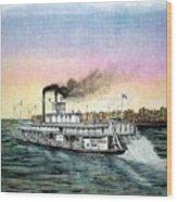 Riverboat Bald Eagle Wood Print