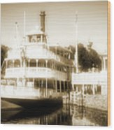 Riverboat, Liberty Square, Walt Disney World Wood Print