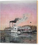 Riverboat Saint Paul Wood Print