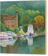 Riverboats Wood Print