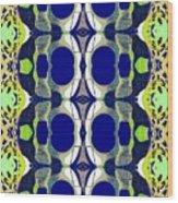 Riverdale Blue Green Wood Print
