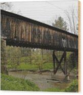 Riverdale Road Covered Bridge Wood Print