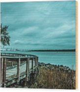 Riverfront Park Boardwalk Wood Print