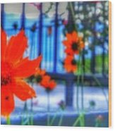 Riverhouse Flowers Wood Print