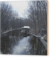Riverhouse Wood Print
