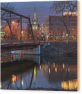 Riverplace Minneapolis Little Europe Wood Print