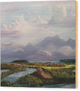 River's End Wood Print