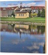 Riverside Hotel Wood Print