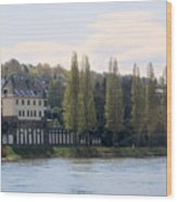 Riverside Idyll Wood Print