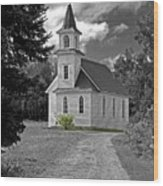 Riverside Presbyterian Church 1800s Bw Wood Print