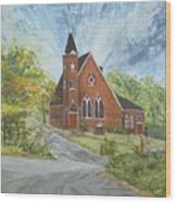 Riverton Church Wood Print