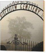 Riverview Cemetery II Wood Print