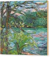 Riverview Spring Stage One Wood Print