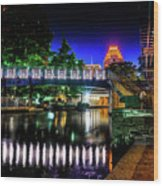 Riverwalk Bridge Wood Print