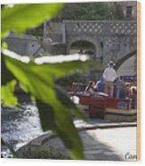 Riverwalk In San Antonio Wood Print