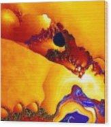 Rivulets Wood Print