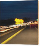 Road At Night 1 Wood Print