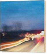 Road At Night 3 Wood Print