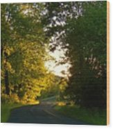 Road At Sunset Wood Print by Joyce Kimble Smith