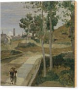 Road From Volterra Wood Print