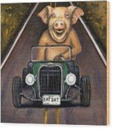 Road Hog Wood Print