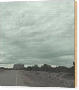 Road Leading To Mesa Wood Print