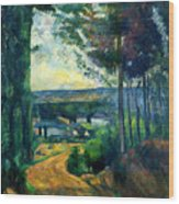 Road Leading To The Lake, By Paul Cezanne, Circa 1880, Kroller-m Wood Print
