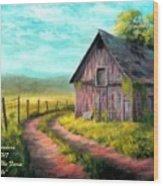 Road On The Farm Haroldsville L A Wood Print