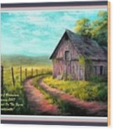 Road On The Farm Haroldsville L A With Decorative Ornate Printed Frame.  Wood Print