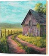 Road On The Farm Haroldsville L B Wood Print