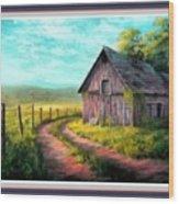 Road On The Farm Haroldsville L B With Alt. Decorative Ornate Printed Frame.   Wood Print