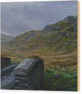 Road Over Donegal Bridge Wood Print