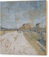 Road Running Beside The Paris Ramparts Paris, June - September 1887 Vincent Van Gogh 1853  1890 Wood Print
