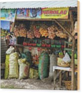 Road Side Store Philippines Wood Print