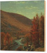 Road Through Belvedere Wood Print