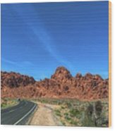 Road Through Valley Of Fire  Wood Print