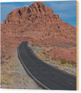 Road Through Valley Of Fire, Nv Wood Print