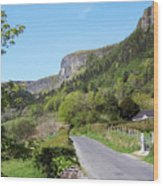 Road To Benbulben County Leitrim Ireland Wood Print