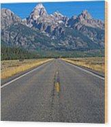 Road To Grand Teton National Park Wood Print