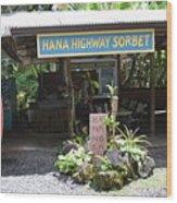 Road To Hana Wood Print