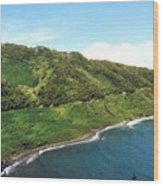 Road To Hana Wood Print