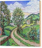 Road To Home Wood Print