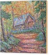 Road To Home Wood Print