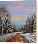 Road To Knowlton Quebec Wood Print