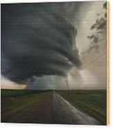 Road To Mesocyclone Wood Print