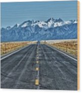Road To Mountains Wood Print