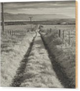 Road To Nowhere Wood Print