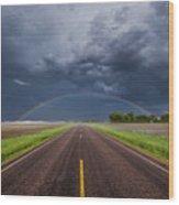 Road To Nowhere - Rainbow Wood Print