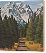 Road To Olympus Wood Print