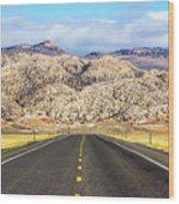Road To Owl Creek Mountains Wyoming Wood Print